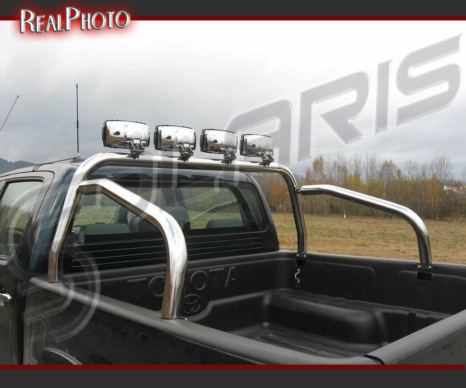 Toyota hilux 2005 2011 pickup rollbar roll bar gratis stainless steel ebay for Interior roll cage for toyota pickup