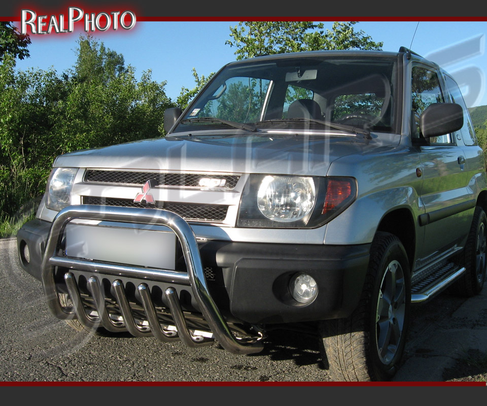 mitsubishi pajero pinin 98 07 bull bar with axle bars gratis stainless steel ebay. Black Bedroom Furniture Sets. Home Design Ideas