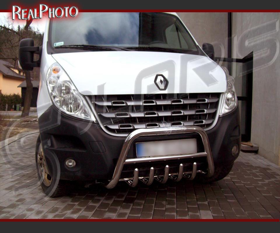 Renault Master 2010 2013 Bull Bar Gratis Stainless