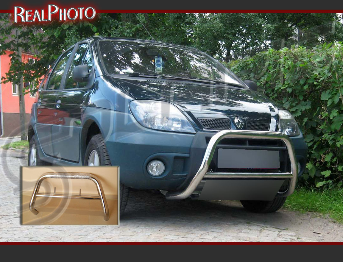 renault scenic rx4 00 03 low bull bar without axle bars gratis stainless steel ebay. Black Bedroom Furniture Sets. Home Design Ideas