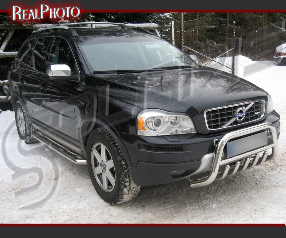 Matte Black Volvo Xc90 >> VOLVO XC90 07-13 SET OF LOW BULL BAR + SIDE STEPS +GRATIS!!! STAINLESS STEEL   eBay