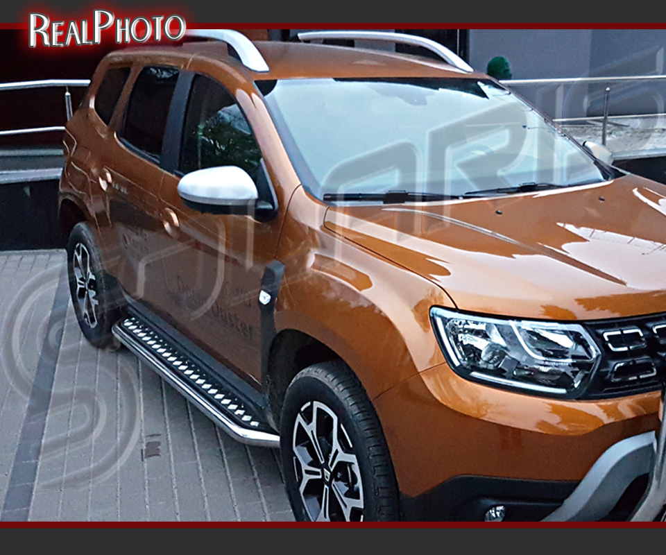 To Fit 2010-2017 Dacia Duster Aluminium Side Steps Running Boards Silver