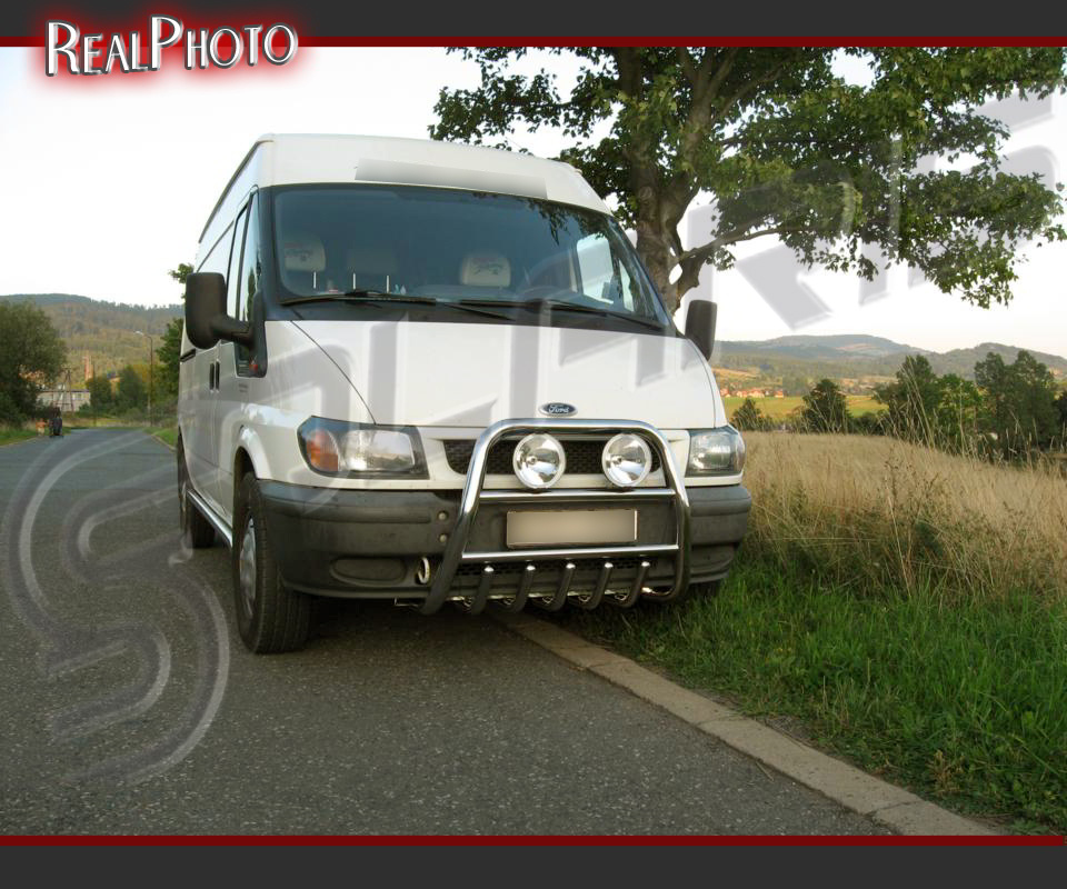 Ford Transit Mk6 High Bull Bar Nudge Bar A Bar Stainless Steel